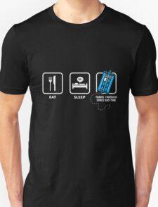 Blue Phone Box Eat Sleep Bad Habit T-Shirt