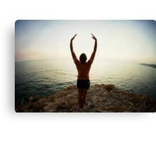 Hur Yoga 7 in the Beach, Mallorca Canvas Print