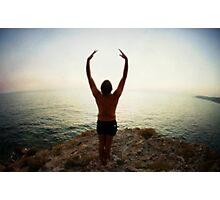 Hur Yoga 7 in the Beach, Mallorca Photographic Print