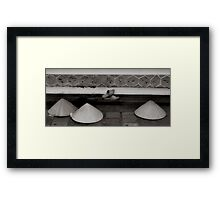 Bare feet, and open mind Framed Print