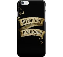 Mischief Managed Banner iPhone Case/Skin