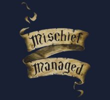 Mischief Managed Banner Kids Tee