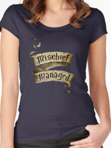 Mischief Managed Banner Women's Fitted Scoop T-Shirt