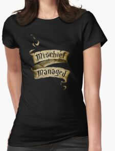 Mischief Managed Banner Womens Fitted T-Shirt