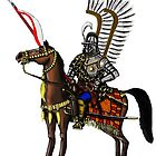 Polish Winged Hussar cartoon art drawing by Vitaliy Gonikman