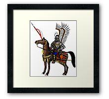 Polish Winged Hussar cartoon art drawing Framed Print