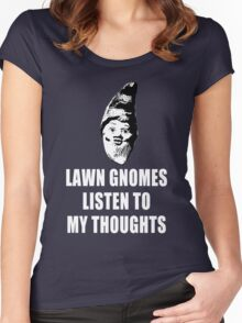Lawn Gnomes (white) Women's Fitted Scoop T-Shirt