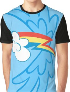 Rainbow Dash Cutie Wings Graphic T-Shirt