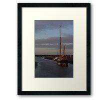 Sunset at Blakeney Framed Print
