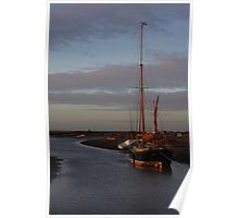 Sunset at Blakeney Poster