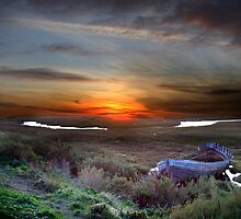 View over Blakbney Point. by jonlenton