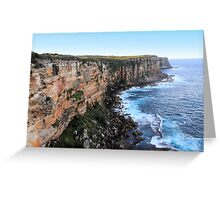 North Head Manly -  Vertical Cliff Greeting Card