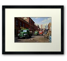 Birmingham fruit and veg market. Framed Print