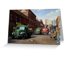 Birmingham fruit and veg market. Greeting Card
