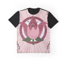 Vintage Style Art Nouveau Flower  Graphic T-Shirt