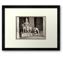 Disappearing into the oblivion Framed Print