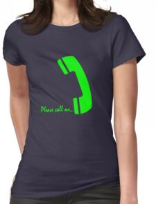 please call me Womens Fitted T-Shirt