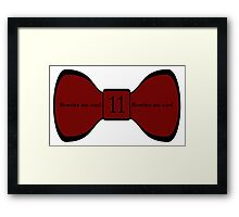 We Love the Bowties. Framed Print