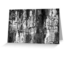 north head manly - wall of rock Greeting Card