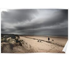 The beach, Holkham, Norfolk Poster