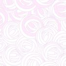 Mackintosh Roses Pattern in Pink and White by ArtformDesigns