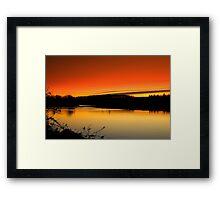 Fading Light over the River Tees, December 18 2011. ( 3 ft's) Framed Print