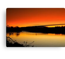 Fading Light over the River Tees, December 18 2011. ( 3 ft's) Canvas Print