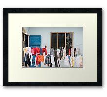 Da Nang Laundry Framed Print