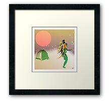 Frozen Dreaming Framed Print