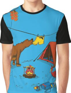 Bear and Bird Graphic T-Shirt