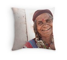 Tribal Woman Throw Pillow
