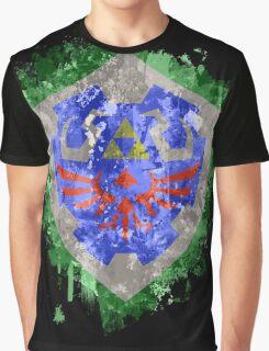 Hylian Shield Splatter Graphic T-Shirt