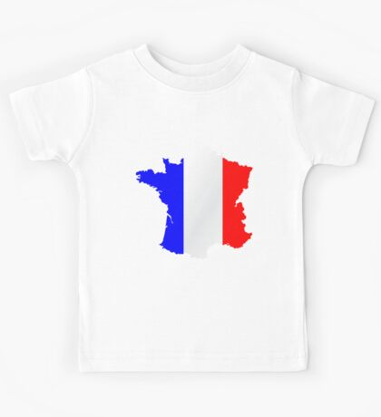 France Flag and  Map Kids Tee