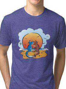 cats & sunset Tri-blend T-Shirt