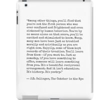 Catcher in the Rye Quote iPad Case/Skin