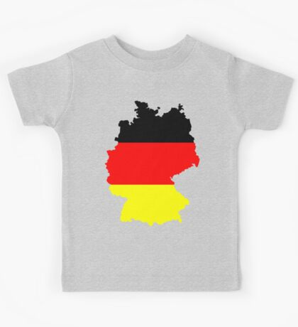Germany Flag and Map Kids Tee