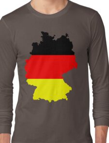 Germany Flag and Map Long Sleeve T-Shirt
