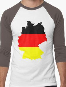 Germany Flag and Map Men's Baseball ¾ T-Shirt