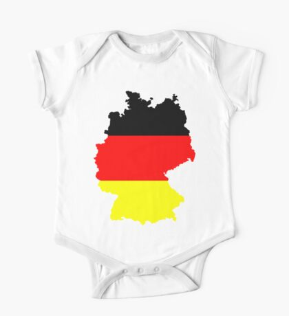 Germany Flag and Map One Piece - Short Sleeve
