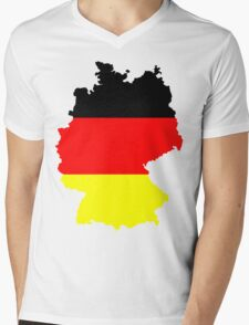 Germany Flag and Map Mens V-Neck T-Shirt