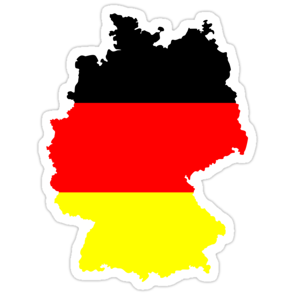 Germany Flag and Map by Nhan Ngo
