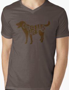 Chocolate Lab Mens V-Neck T-Shirt