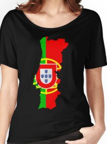 Portugal Flag and Map Women's Relaxed Fit T-Shirt