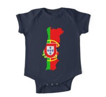 Portugal Flag and Map One Piece - Short Sleeve