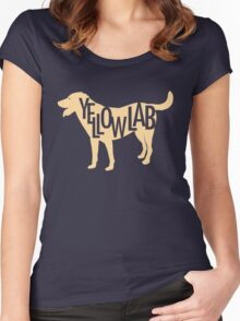 Yellow Lab Women's Fitted Scoop T-Shirt