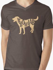 Yellow Lab Mens V-Neck T-Shirt