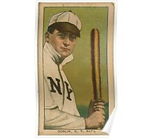 Benjamin K Edwards Collection Mike Donlin New York Giants baseball card portrait 002 Poster