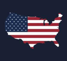 United States Flag and Map Kids Clothes