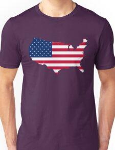 United States Flag and Map Unisex T-Shirt