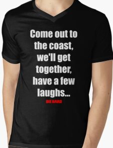 Come out to the coast, we'll have a few laughs... Mens V-Neck T-Shirt